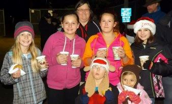 Community children enjoying the 2012 Tree Lighting Ceremony.